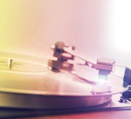 Vintage  turntable vinyl record player
