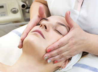massage and facial peels at the salon cosmetics