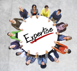 People Holding Hands Community Expertise Proficiency Concept