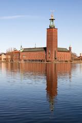 In de dag Stockholm Stadshuset in Stockholm.