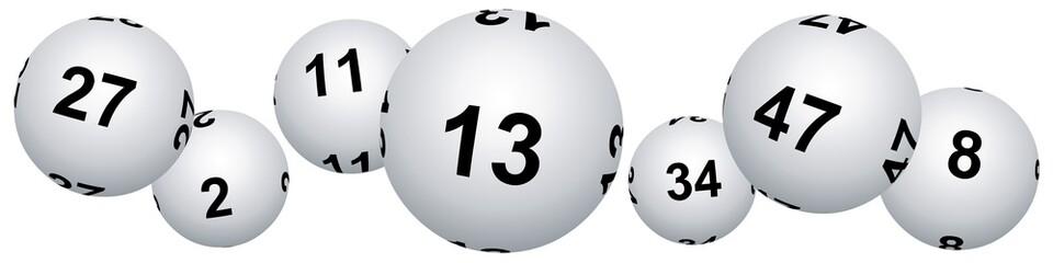 Bannière boules de loto pour le vendredi treize
