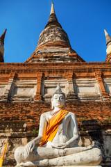 Buddhastatue am Tempel Wat Yai Chai Mongkon in Ayutthaya