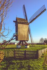 Huisekoutermolen, windmill in Huise, Belgium