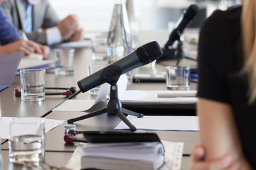 microphone at meeting table