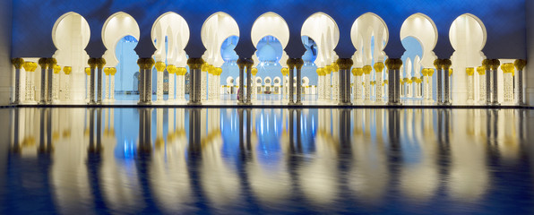 Photo sur Aluminium Moyen-Orient Part of Abu Dhabi mosque