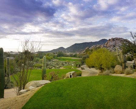 Desert golf course Scottsdale,Az,USA
