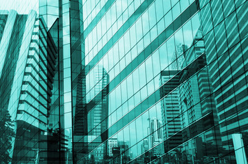 Fototapete - Glass of modern tower