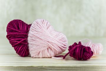 heart of woolen thread