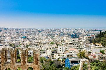 view of Athens city,