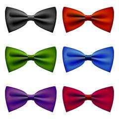 Bow tie colors vintage set