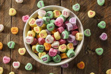 Colorful Candy Conversation Hearts