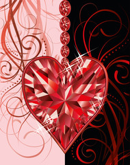 Wedding valentines day greeting card