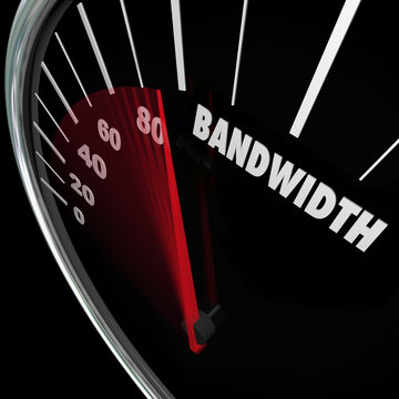 Bandwidth Speedometer Limited Resources Traffic Communication