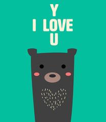Bear love u