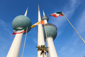 Poster Midden Oosten The Kuwait Towers, Middle East