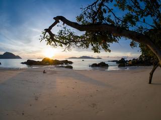Beach in Phuket at sunrise