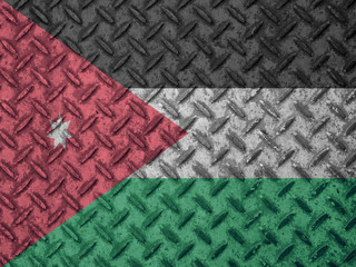 Jordanian flag on grunge wall