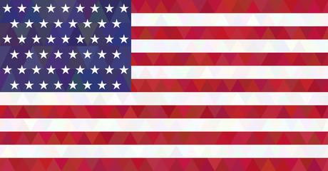 USA flag. Triangle style.
