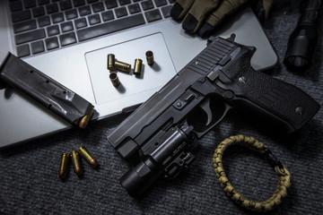 pistol on the table