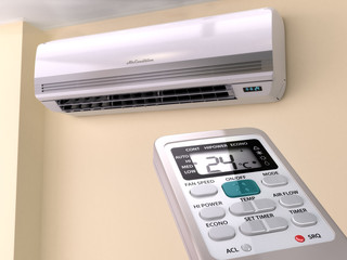 Remote control directed on air conditioner systrem.