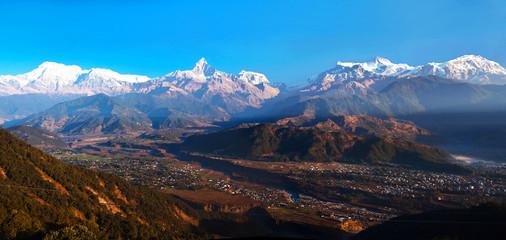 Annapurna range view from Sarangkot, Pokhara, Nepal