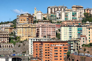 Blick auf Stadtteil San Teodoro, Genua