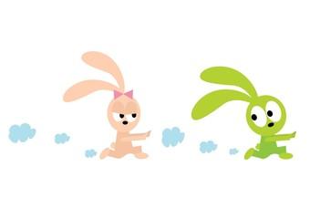 biegające króliki
