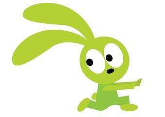 biegnący królik