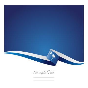 South Carolina ribbon flag vector