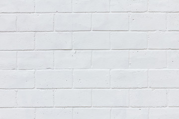 Painted white brick wall texture background