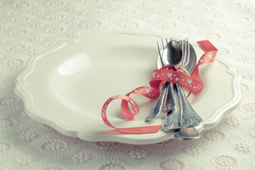 romantic dinner on Valentine's Day