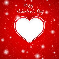 Gift card. Valentine's Day. Love