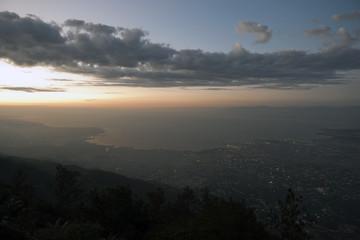 Bucht von Port-au-Prince am Abend, Haiti