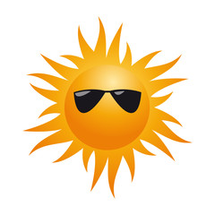 vector sign human sun with sunglasses