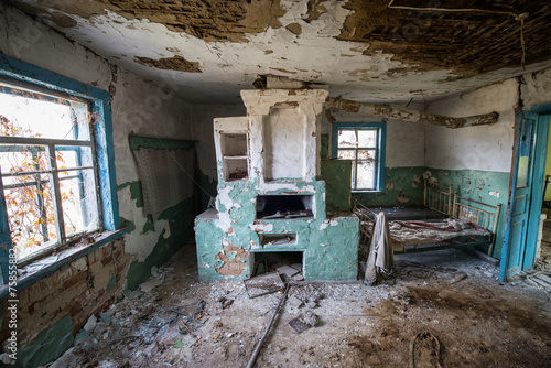 Inside Old Cottage In Stechanka Ghost Village Chernobyl Zone