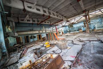 Jupiter Factory in Pripyat ghost town, Chernobyl Zone, Ukraine