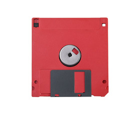 Red floppy disc