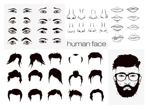 elements of a person's face men
