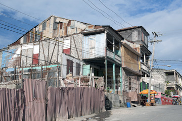 Traditionelles Holzhaus, Jéremié, Haiti