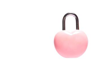 pink heart padlock  valentine day concept