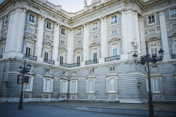Royal Palace of Madrid, located in the area of the Habsburgs, cl