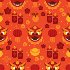 Seamless pattern for Chinese New Year