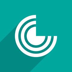 wi fi web flat icon