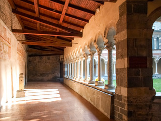 Abbey of Piona, interior courtyard and cloister