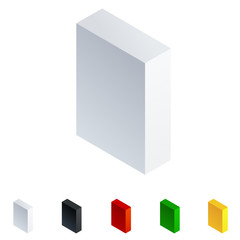 Vector 3D isometric letters. Letter i
