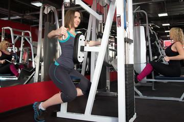 Girls visitors of fitness center