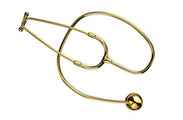Golden stethoscope