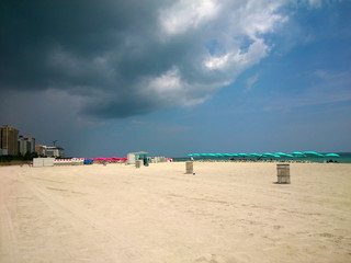 Storm clouds over South Beach Miami
