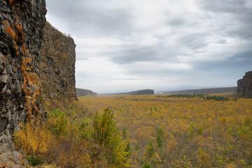 Eyjan rock in Asbyrgi