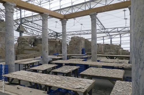Hanghäuser restauration ephesos hanghäuser stockfotos und lizenzfreie bilder
